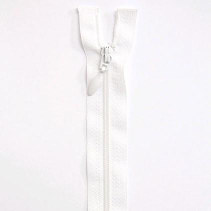 Fermeture Eclair nylon séparable 25 cm  Blanc