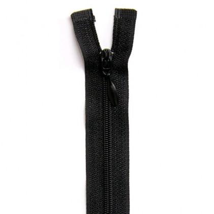 Fermeture Eclair nylon séparable 25 cm  Noir