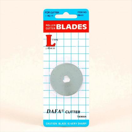 Lames pour cutter rotatif 45 mm Gris argent