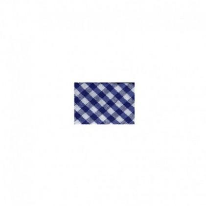 Biais replié Vichy Bleu marine
