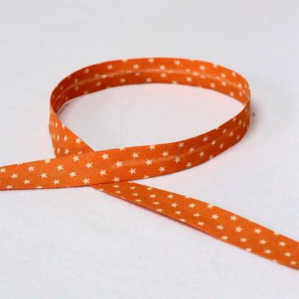 Biais replié Froufou Etoiles 20mm Orange