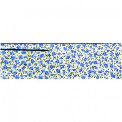 Biais Petites fleurs 20 mm Bleu