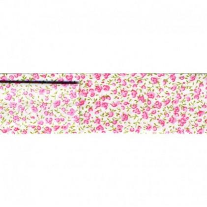 Biais Petites fleurs 20 mm Rose