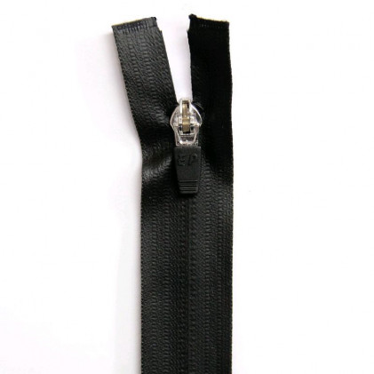 Fermeture Eclair imperméable séparable 40cm Noir