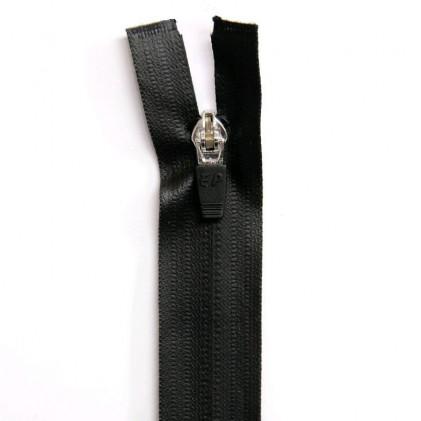Fermeture Eclair imperméable séparable 50cm Noir
