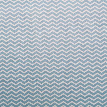 Tissu coton imprimé Tezy Bleu ciel
