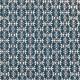 Tissu coton imprimé  Bamisa Bleu
