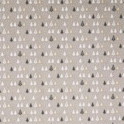 Tissu coton Noël Oeko-Tex Hikley Beige