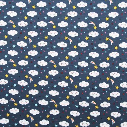 Tissu jersey Oeko-Tex Sorra Bleu