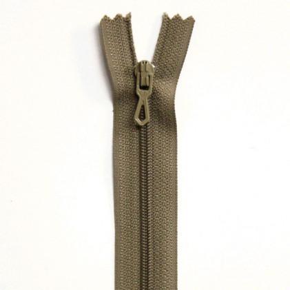 Fermeture Eclair nylon non séparable 12 cm  Beige chamois