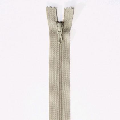 Fermeture Eclair nylon non séparable 12 cm  Beige lin