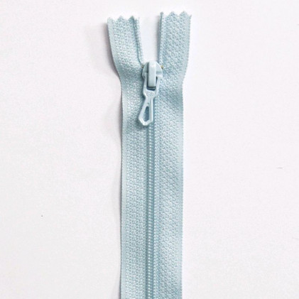 Fermeture Eclair nylon non séparable 12 cm  Bleu clair