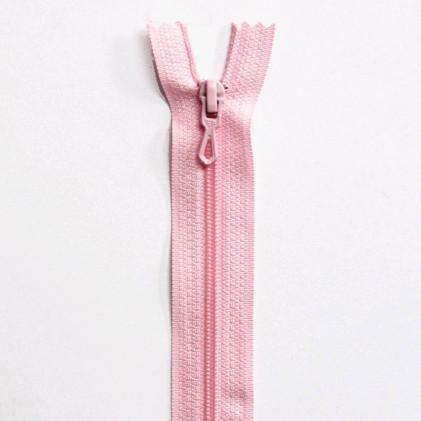 Fermeture Eclair nylon non séparable 12 cm  Rose pale