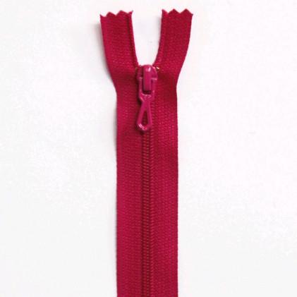 Fermeture Eclair nylon non séparable 12 cm  Rose fuchsia
