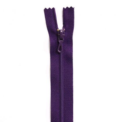 Fermeture Eclair nylon non séparable 12 cm  Violet foncé