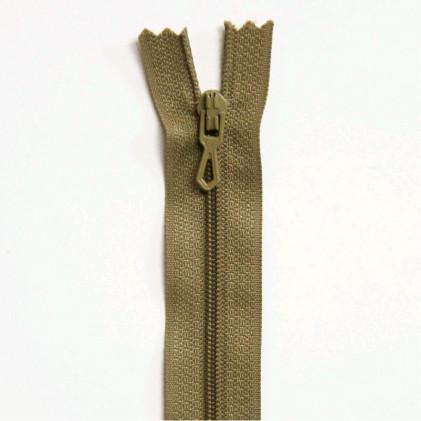 Fermeture Eclair nylon non séparable 12 cm  Beige foncé