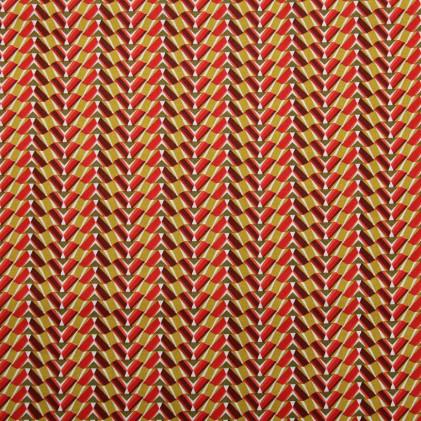 Tissu coton imprimé Pharaon Rouge