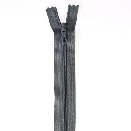 Fermeture Eclair nylon non séparable 55 cm  Gris
