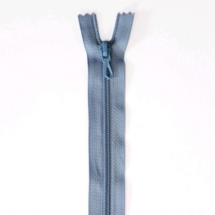 Fermeture Eclair nylon non séparable 55 cm  Bleu ciel