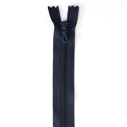 Fermeture Eclair nylon non séparable 55 cm  Bleu marine