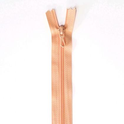 Fermeture Eclair nylon non séparable 55 cm  Saumon