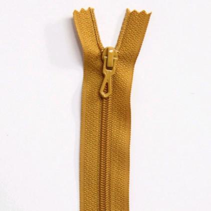 Fermeture Eclair nylon non séparable 55 cm  Moutarde