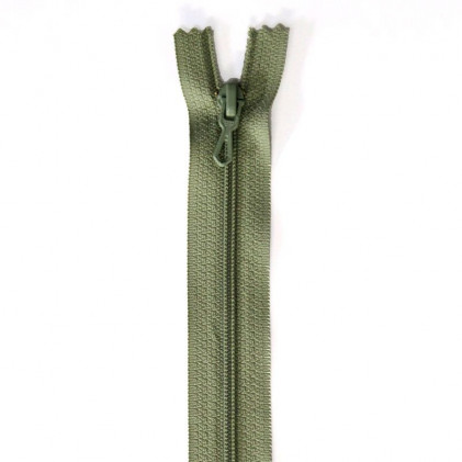 Fermeture Eclair nylon non séparable 55 cm  Vert lichen
