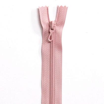 Fermeture Eclair nylon non séparable 55 cm  Rose