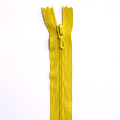 Fermeture Eclair nylon non séparable 55 cm  Jaune