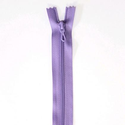 Fermeture Eclair nylon non séparable 55 cm  Parme