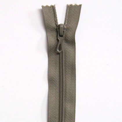 Fermeture Eclair nylon non séparable 55 cm  Grège