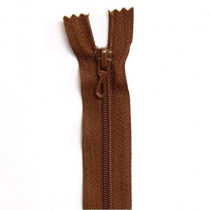 Fermeture Eclair nylon non séparable 55 cm  Marron moyen
