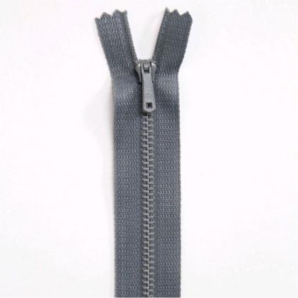 Fermeture Eclair métallique spéciale pantalon non séparable 18 cm    Gris