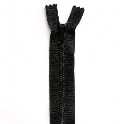 Fermeture Eclair métallique spéciale pantalon non séparable 18 cm    Noir