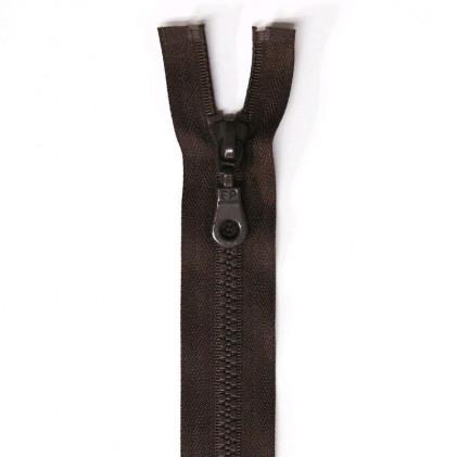 Fermeture Eclair plastique séparable 50 cm    Marron