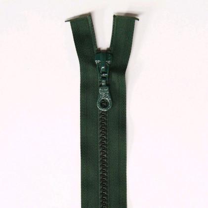 Fermeture Eclair plastique séparable 35 cm    Vert sapin