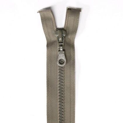 Fermeture Eclair plastique séparable 35 cm    Grège