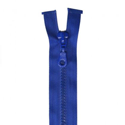 Fermeture Eclair plastique séparable 60 cm    Bleu roi