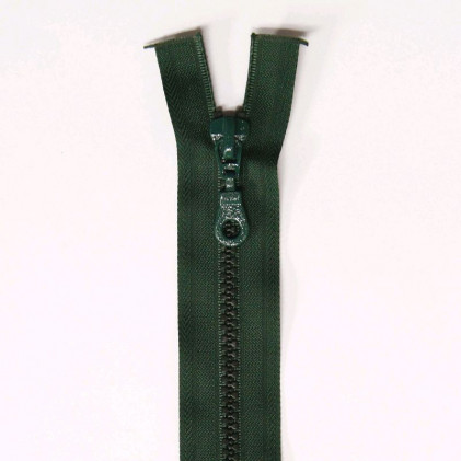 Fermeture Eclair plastique séparable 60 cm    Vert sapin