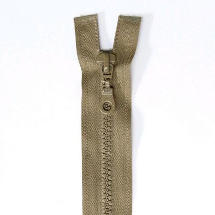 Fermeture Eclair plastique séparable 60 cm    Beige foncé