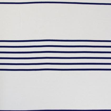Tissu jersey Armor Lux® Marinière Bleu électrique