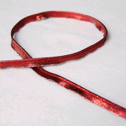 Passepoil Lurex 10 mm Rouge