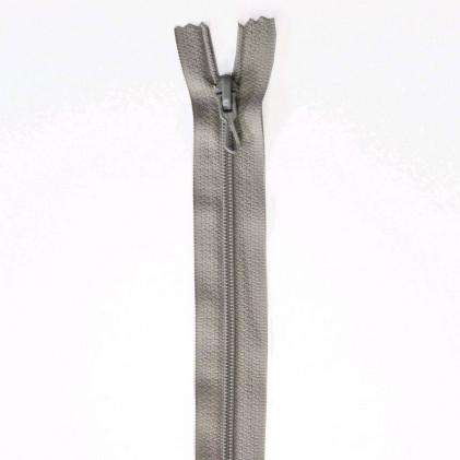 Fermeture Eclair nylon non séparable 30 cm  Gris souris