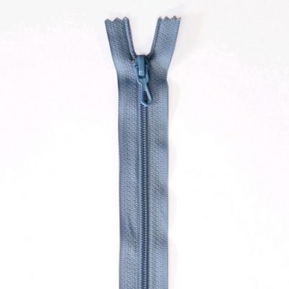 Fermeture Eclair nylon non séparable 30 cm  Bleu ciel