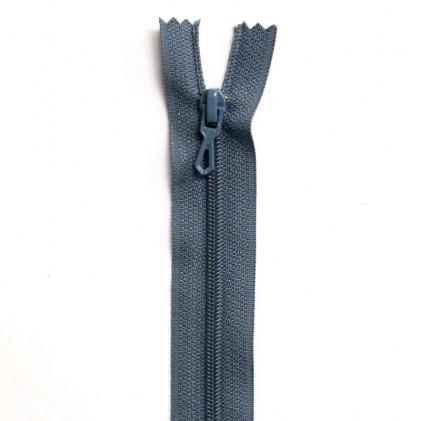 Fermeture Eclair nylon non séparable 30 cm  Bleu gris