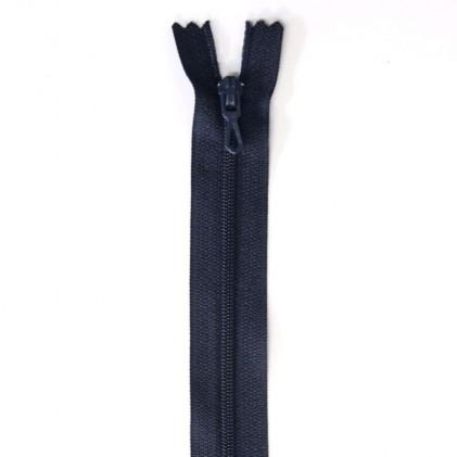 Fermeture Eclair nylon non séparable 30 cm  Bleu marine