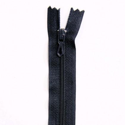 Fermeture Eclair nylon non séparable 30 cm  Bleu nuit