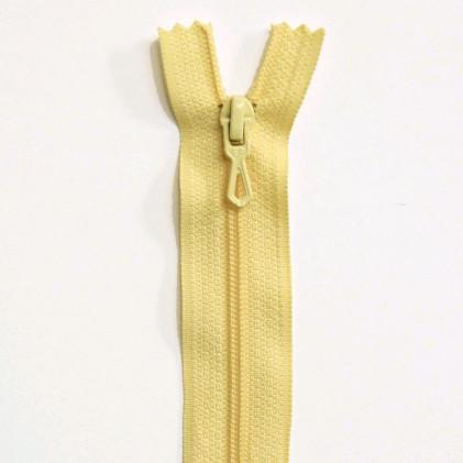 Fermeture Eclair nylon non séparable 30 cm  Jaune pâle