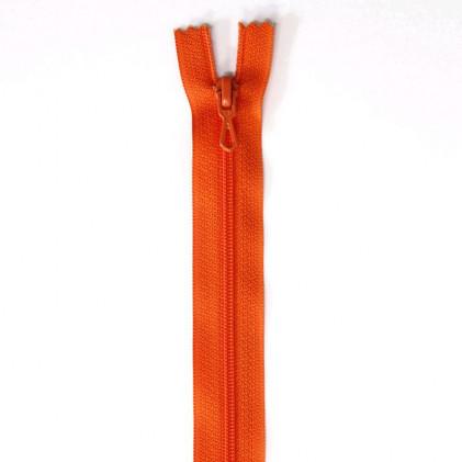 Fermeture Eclair nylon non séparable 30 cm  Orange