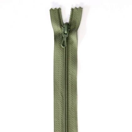 Fermeture Eclair nylon non séparable 30 cm  Vert lichen
